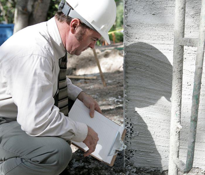inspector evaluating foundation repair in Ohio